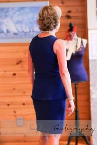 royal peplum matching skirt from back