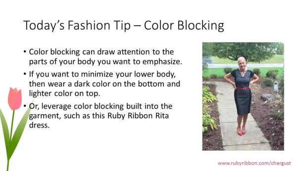 color blocking tip
