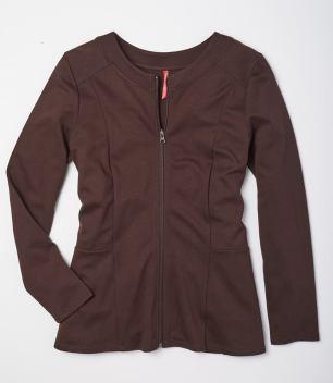 brown ponte jacket