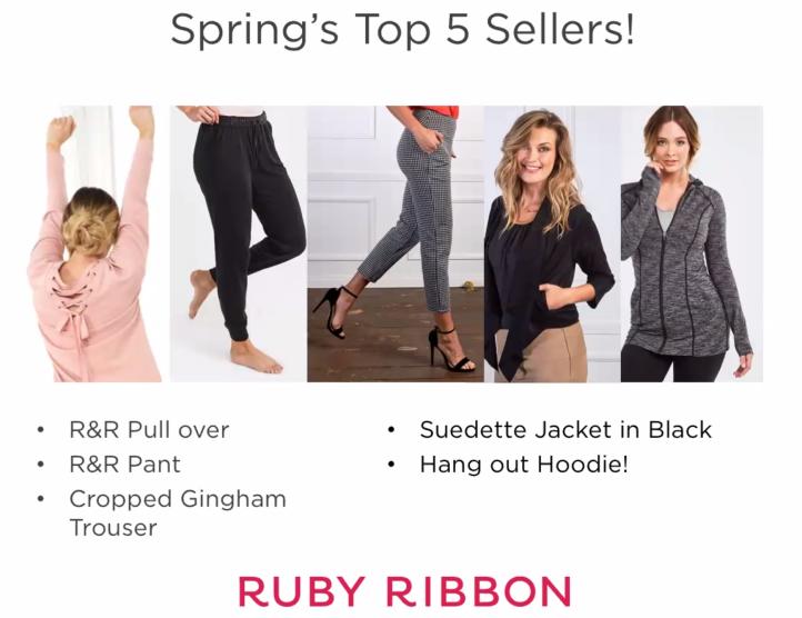 Spring 2018 top sellers